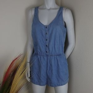 Light Wash Blue Denim Jean Jumpsuit